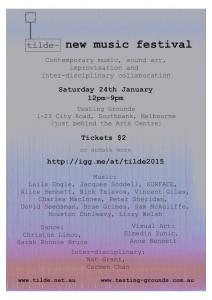 Tilde New Music Festival 2015
