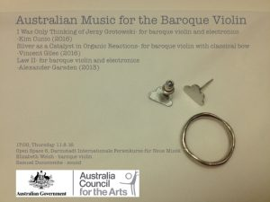 Australian Music for the Baroque Violin